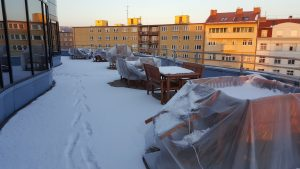 Terrace in Winter
